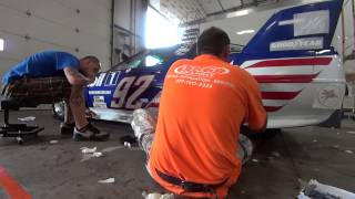 Decaling a Race Car for a Weekend at Indy