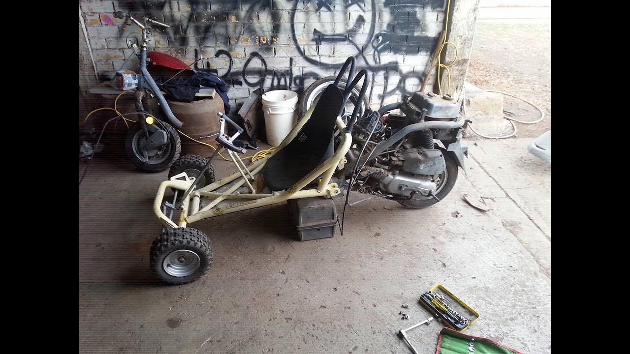 Building a 100cc Honda Mo-Kart (Half Moped Half Go-Kart)