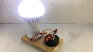New Technology Free Energy Light Bulb Using Spark Plug Generator 100% at Home