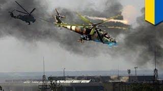 Ukrainian military uses heavy firepower in major assault to retake Donetsk Airport