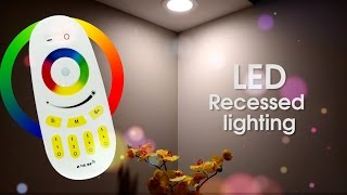 GENSSI LED Recessed Ceiling Downlight Flood Light (Warm White RGB Color Combo)