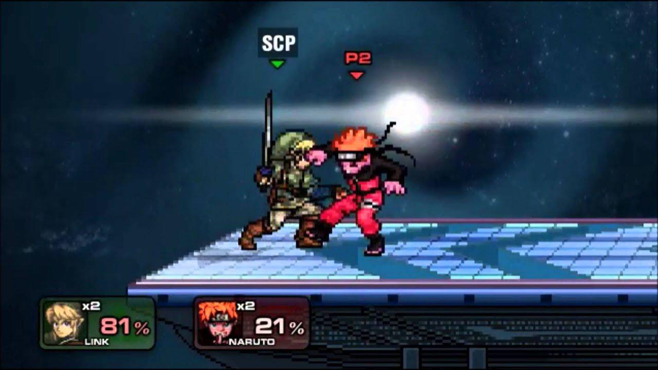 Link Vs Ichigo Naruto Super Smash Flash 2 V 0 9b
