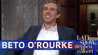Beto O'Rourke Gets Debate Prep From Stephen Colbert