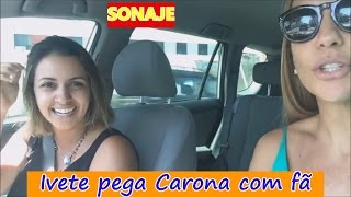 Ivete Sangalo pega Carona com fã, e os famosos que foram no Lollapalooza