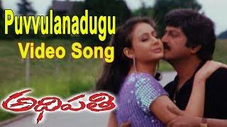 Adhipathi Movie || Puvvulanadugu Video Song ||  Mohan Babu, Nagarjuna,Preeti Jhangiani,Soundarya