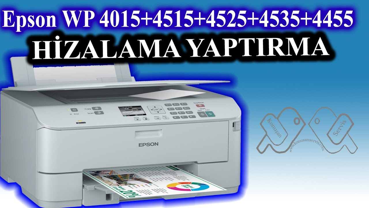 Epson WP-4525 showed how alignment is done
