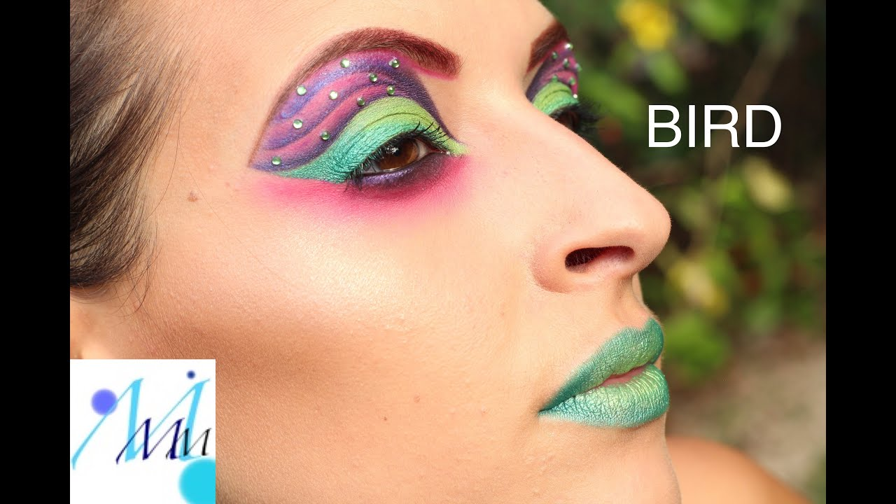 maquillage color color make up tutorial fluo bird - Colori Maquillage