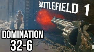 BATTLEFIELD 1 REVOLVER/MARTINI GAMEPLAY | BF1 Domination Amiens