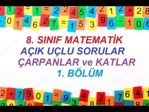 8. Sınıf Matematik çarpanlar Ve Katlar Açık Uçlu Sorular 1