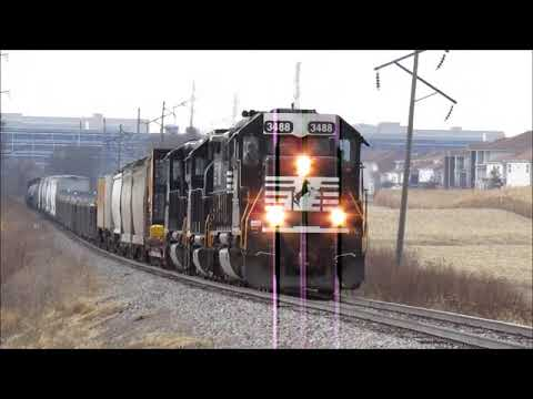 Norfolk Southern D36 At Bloomington, IL - Nov. 23, 2019