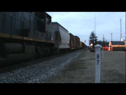 CSX southbound freight Q583 with pushers in Cowan,TN