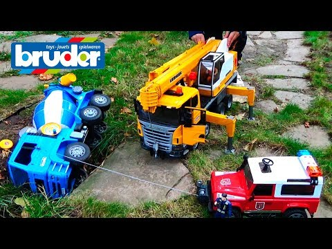 Thumbnail: Cars Video for kids Construction Trucks for Children Crash Bruder Toys Learn colors Nursery Rhymes