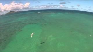 Kiteboarding in Kailua - Drone