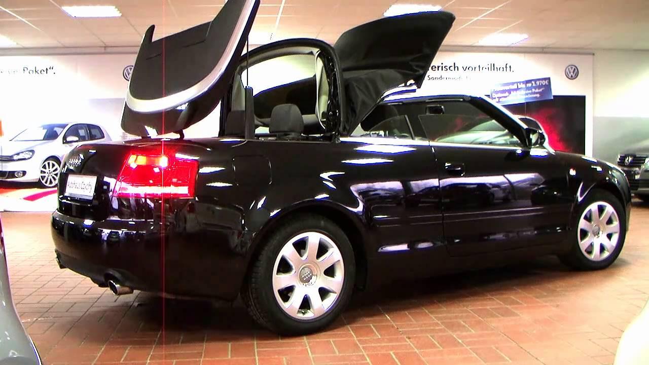 audi a4 cabriolet 120kw modell 2006 schwarz metallic. Black Bedroom Furniture Sets. Home Design Ideas