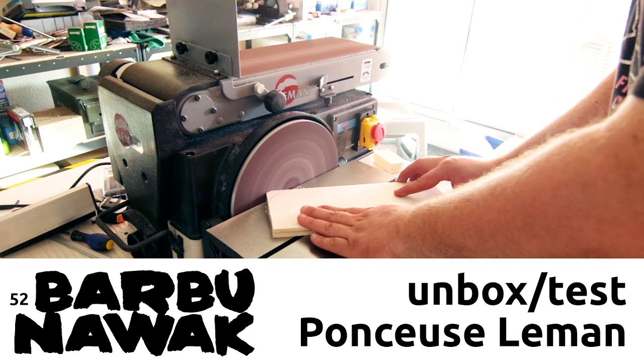 barbunawak unbox test de la ponceuse leman disque et bande pon250 youtube. Black Bedroom Furniture Sets. Home Design Ideas
