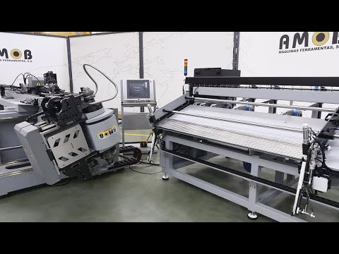 Right And Left Fully Electric CNC Tube Bender EMOB42-2BEND / 25x1,5 / Automatic Feed Cell | AMOB