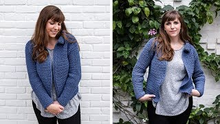 How to Crochet Jean Jacket Cardigan