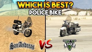 GTA 5 POLICE BIKE VS GTA SAN ANDREAS COP BIKE : WHICH IS BEST?