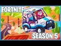 Download FIRST GAME = FIRST VICTORY ROYALE in FORTNITE SEASON 5! (Paradise Palms & All Terrain Kart Gameplay)