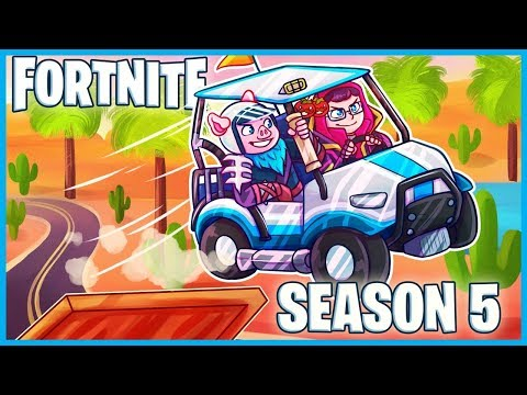 FIRST GAME = FIRST VICTORY ROYALE In FORTNITE SEASON 5! (Paradise Palms & All Terrain Kart Gameplay)