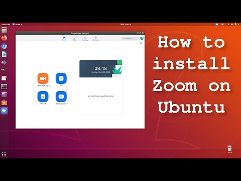 How to install Zoom on Ubuntu and derivatives