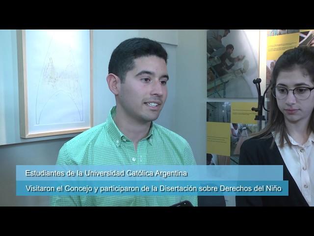 Estudiantes de Derecho (UCA) participan del intercambio y visitaron el HCD