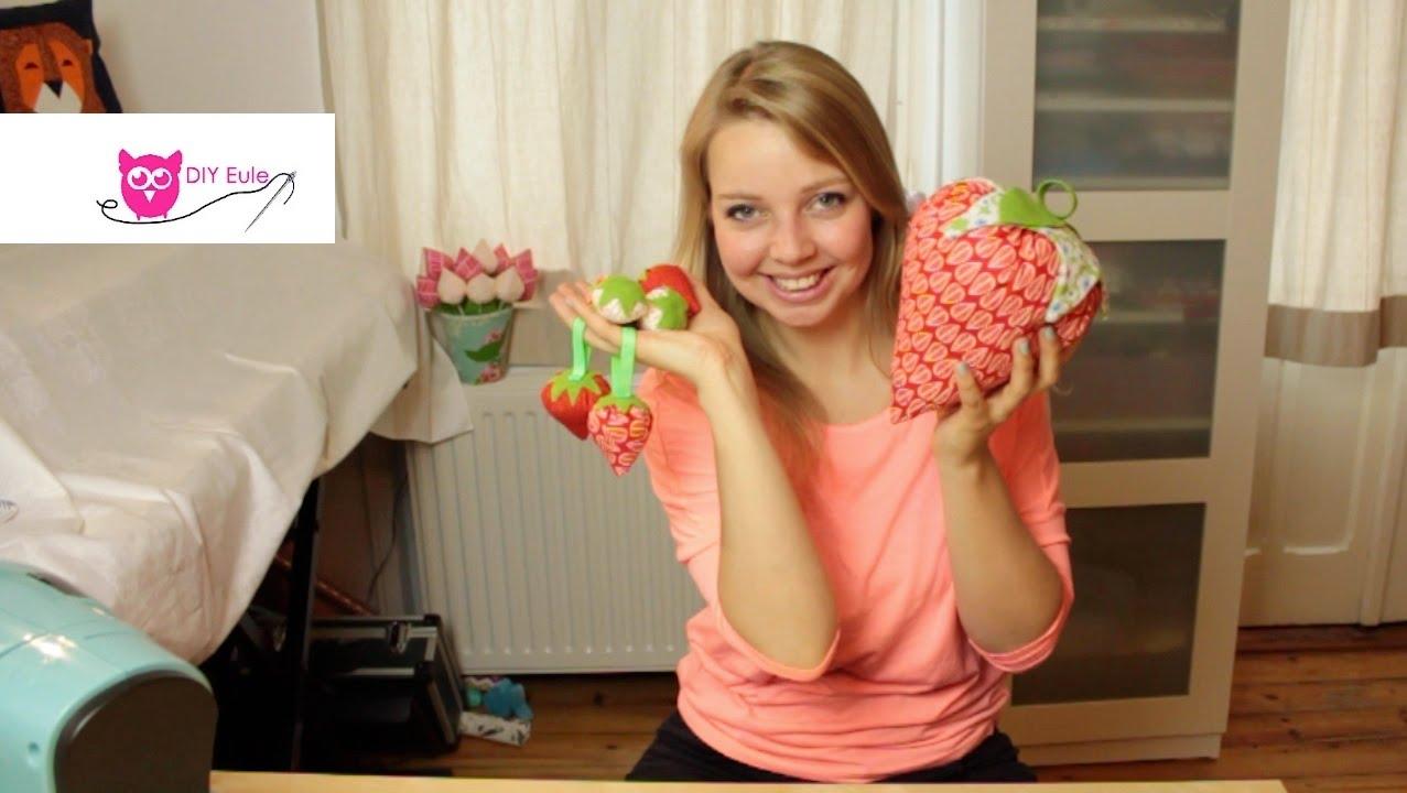 Erdbeeren Aus Stoff Nahen Diy Eule Youtube