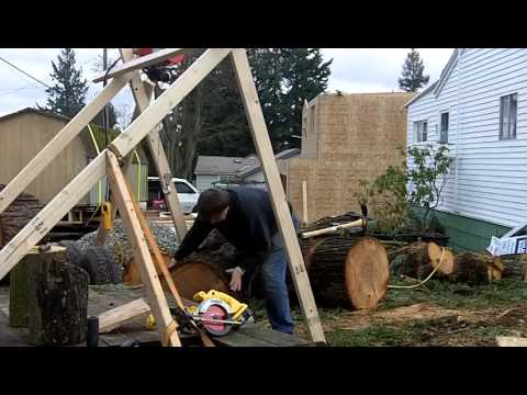 Lifting Firewood Rounds With a Harbor Freight 880lb Cable Hoist