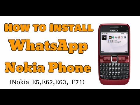 How To Install Whatsapp On Nokia E63 - WhatsApp Installation On Symbian Fix