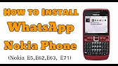 Nokia E5/E71 Whats app installation symbian - YouTube