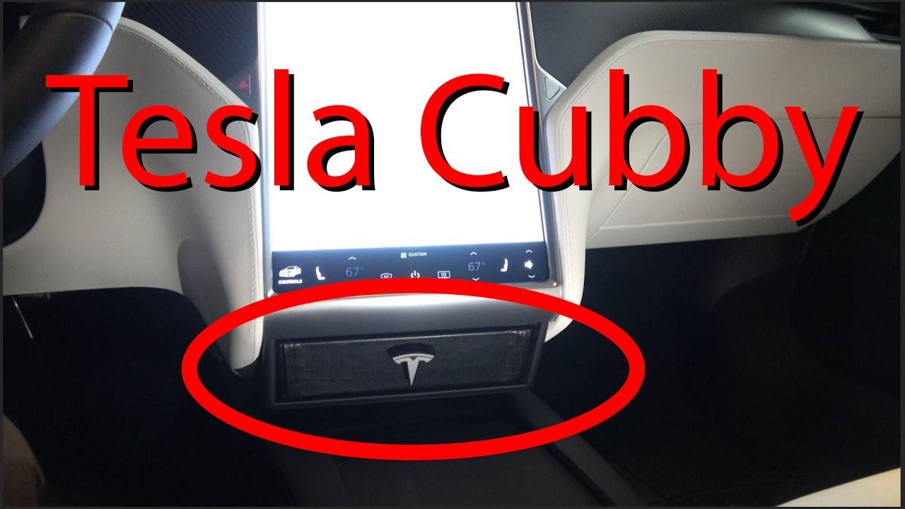 Tesla Cubby  The BEST Tesla Storage Option! by DÆrik