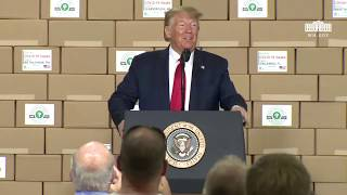 President Trump Delivers Remarks at Puritan Medical Products