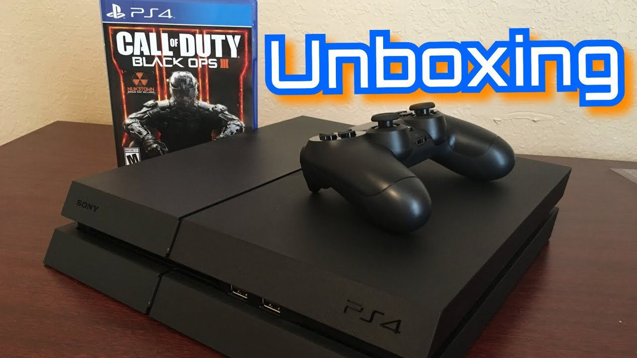 Unboxing Ps4 500gb Black Ops 3 Bundle Youtube