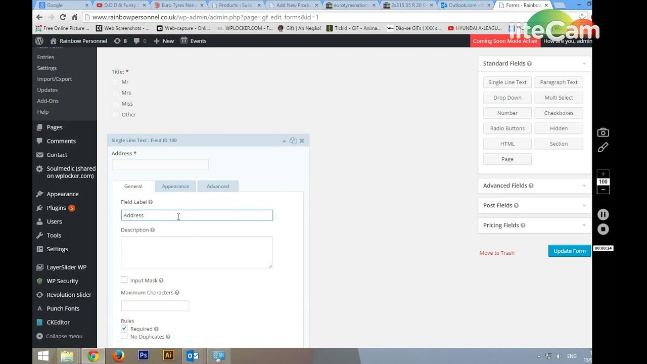 How to edit application form youtube falaconquin