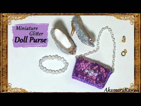 Sparkly Miniature Glitter Purse/handbag - Fabric Tutorial