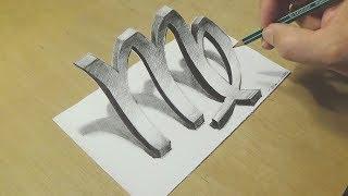 Astrology-Inspired - Drawing Zodiac Symbol - How To Draw Zodiac Sign Virgo - Trick Art