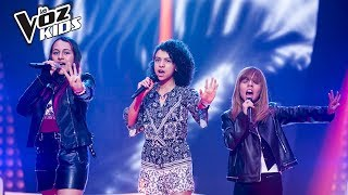 Giuliana, Niki y Paulina cantan Firework - Batallas   La Voz Kids Colombia 2018