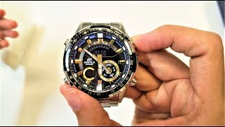 Casio Edifice watch ERA-600D-1A9 Unboxing