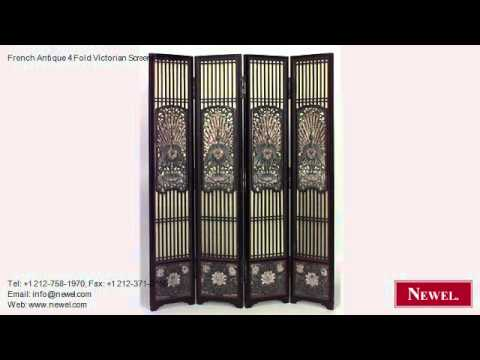 French Antique 4 Fold Victorian Screens for Sale