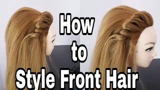 Front Hairstyle With High Crown Hair || Easy Hairstyles For College/Work/Party || Hairstyles