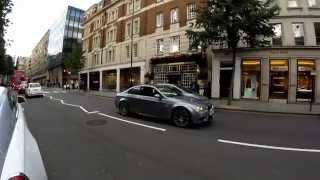 jaguar f type racing bmw m3 in london loud acceleration
