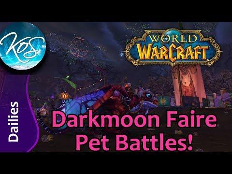 World Of Warcraft: DARKMOON FAIRE PET BATTLES - Dailies, Reputation Strats - WoW Battle Pets