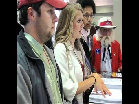 Colonel Reb Petition Delivery to Ole Miss Chancell...