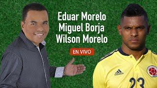 EDUAR MORELO CANTANDO CON MIGUEL BORJA Y WILSON MORELO EN TIERRA ALTA CORDOBA