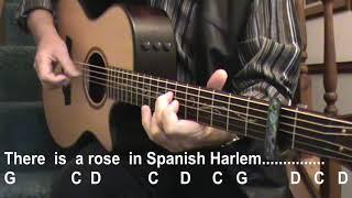 SPANISH HARLEM (Ben E KIng) - Lyrics & Chords