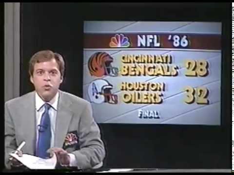 Bob Costas & Amhad Rashad Host NFL 1986 Live With Highlights Of Week 10 - imasportsphile