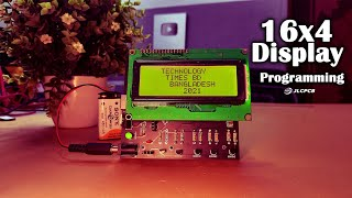16x4 Display Programming with Arduino | How To Control A LCD | JLCPCB | sign up to get $18 coupons