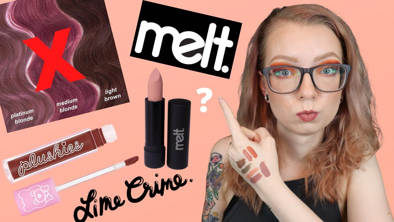 Haul Review - New Lipsticks and a Hair Dye | Lime Crime, Melt Cosmetics