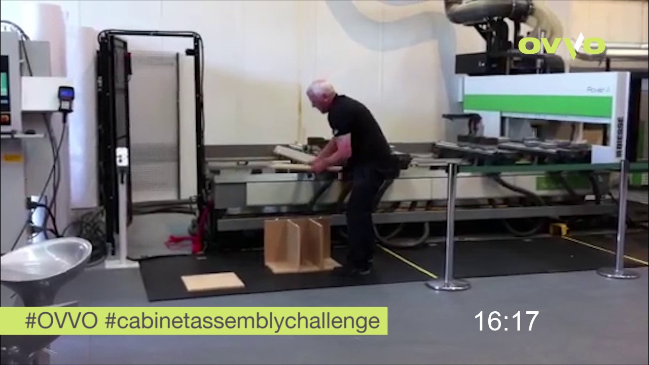 OVVO Cabinet Assembly Challenge   Biesse UK Tech Centre Manager Nigel