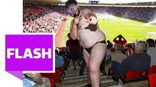 """Stoke-Fan """"Speedo Man"""" macht die Schweiz unsicher"""